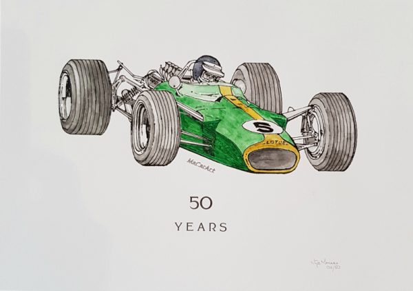 Limited Edition Water Colour Wash Print Lotus 49