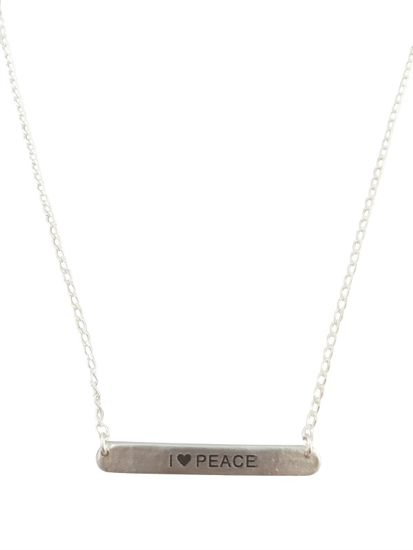 Tag Necklace I Love Peace