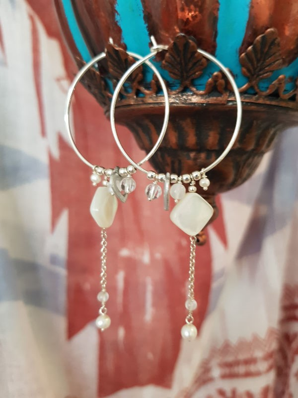 Hoop & Charm Earrings