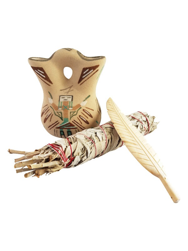 White Sage Smudge Stick Lge + Feather