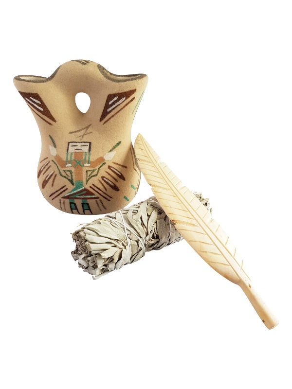 White Sage Smudge Stick Med + Feather