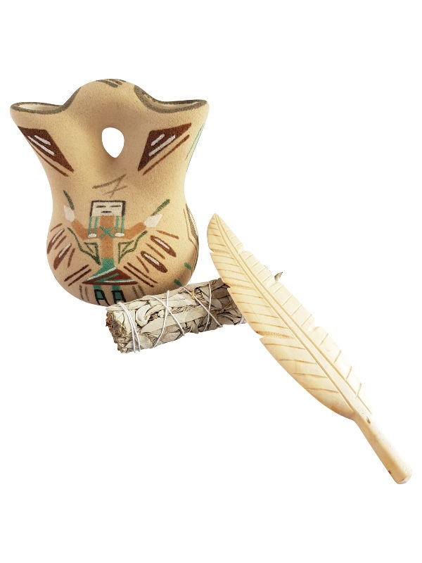 White Sage Smudge Stick Small + Feather